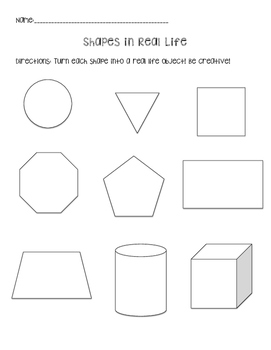 Shapes in Real Life