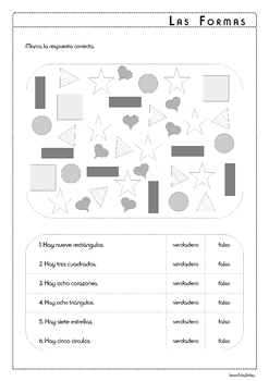 Shapes in Spanish - Las Formas - Activity Pack