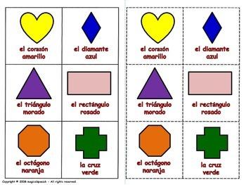 Shapes in Spanish / Las formas Geométricas en español (Board Game)