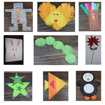 Shapes interactive notebook and crafts