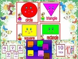 Shapes - numbers - colours - Interactive PowerPoint Lesson