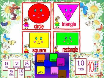Shapes - numbers - colours - Interactive PowerPoint presentation