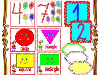 Back to School Activities - Shapes - labels - Numbers