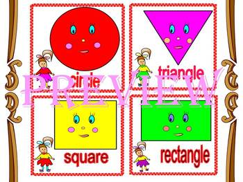 End of the year activities Shapes labels Numbers