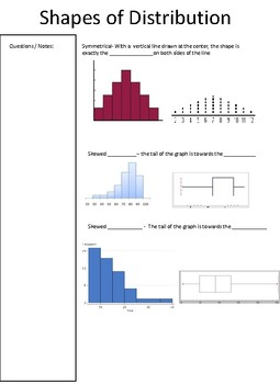 Shapes of Distribution Notes
