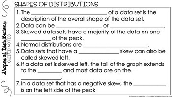 Shapes of Distributions Digital Math Notes
