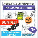 Halloween Math in Art Activity THE MONSTER PACK BUNDLE