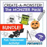 Halloween Math in Art Activity THE MONSTER PACK BUNDLE