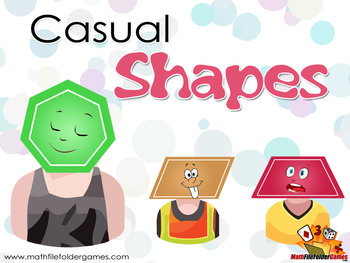 Shapes on Their Casual Wear {Math Clipart}