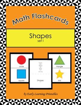 Shapes  (set I) Math Flashcards
