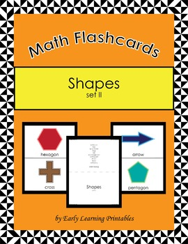 Shapes  (set II) Math Flashcards