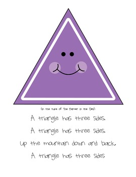 Shapes songs featuring Triangle, square, circle, and rectangle.