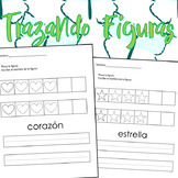 Shapes tracing- Spanish Worksheets