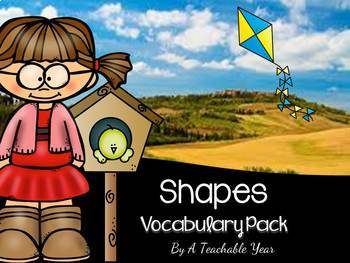 Shapes- Vocabulary Pack