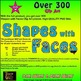 Shapes with Faces Clip Art - 10 FREE
