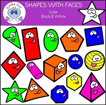 Shapes (with Faces) Clip Art