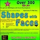 Shapes with Faces Clip Art - 300