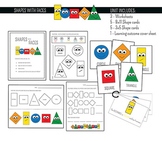 Shapes with Faces - Preschool Printables