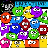 Shapes with Faces: Shape Clipart {Creative Clips Clipart}