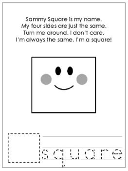 Shapes with Shape Poems Worksheets. 8 Shapes Worksheets. Preschool-KDG.