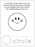 Shapes with Shape Poems Worksheets. 8 Shapes Worksheets. Preschool-KDG.