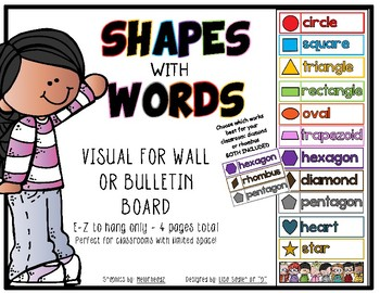 Shapes with Words - Wall or Bulletin Board Display
