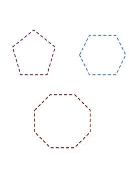 Shapes...Trace, Color, & Cut
