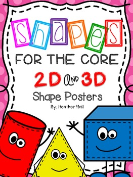 Shapes For The Core {2d and 3d Shape Posters With Tinted Polka Dot Background}