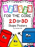 Shapes For The Core {2d and 3d Shape Posters With Tinted P