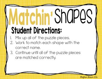 Shapin Up Geometry - 2nd Grade Math Centers
