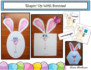 Shapin' Up With Bunnies! 2D & 3D Shape Craftivities, Games