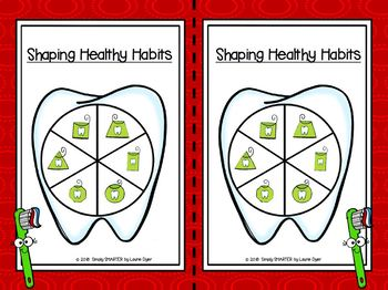 Shaping Healthy Habits:  LOW PREP Dental Health Themed Flat Shape Activities