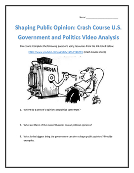 Shaping Public Opinion: Crash Course U.S. Government and P