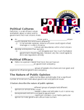 Shaping Public Opinion (ppt, guided notes, crash course activity)