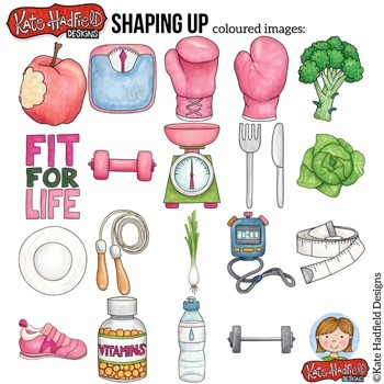 """Keep Fit Clip Art: """"Shaping Up"""""""