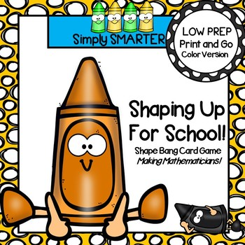 LOW PREP Back To School Themed Shape Card Game