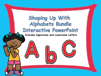 Shaping Up With Alphabets Interactive PowerPoint Bundle