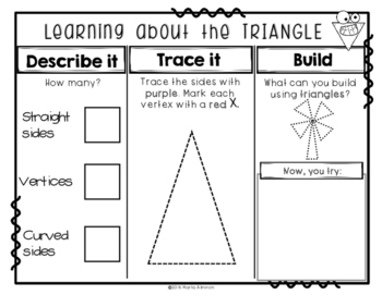 Shaping Up with 2D Shapes {Brochures and Activities}
