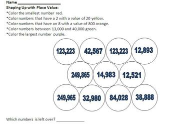 Shaping Up with Place Value