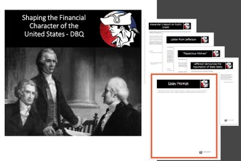 American History / Government - DBQ - Early Economic Policy in the United States