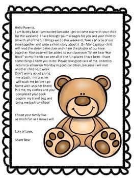 Share Bear Take Home Activity