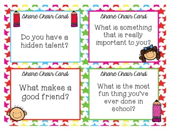 Share Chair Cards! Perfect for Morning Meetings!