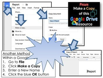 Google Resources Seller's Guide #2: Make a Copy of Google Drive Products