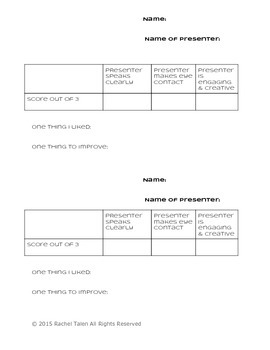 Share Out Reflection Sheet