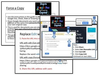 Share a Google Doc that Must be Copied