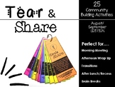 Tear and Share Community Building Activities -First Edition