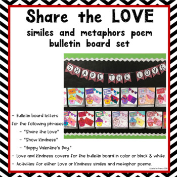 Share the Love Poem Bulletin Board Activity