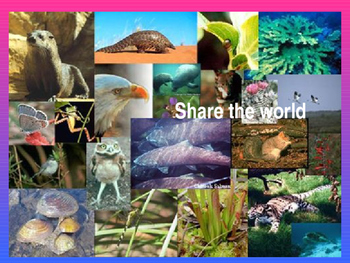 Share the World - extinction and endangered animals Powerpoint and Workbook