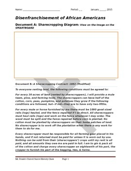 Sharecropping and Black Codes