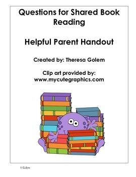 Shared Book Reading Parent Handout